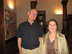 Freddy Boeykens, Head of UVV in Flanders and Sonja Eggerickx, school inspector for the subject 'Non-confessional Ethics'; president IHEU; president UVV